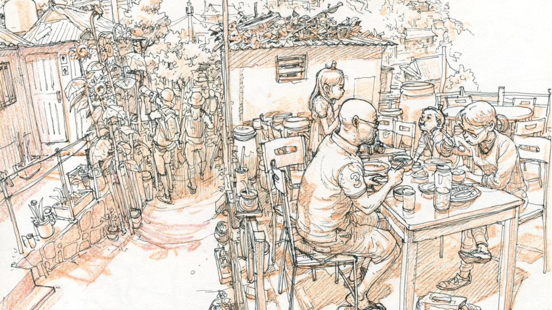 people-korean-monochrome-artwork-drawings-kim-jung-gi-1920x1080-1920×1080-wallpaper-wpc9207919